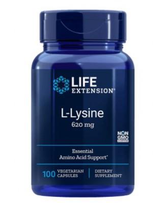 L-Lysine 620 mg 100 Vegetarian Capsules - Life Extension