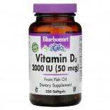 Vitamin D3 2.000 IU (250 softgels) - Bluebonnet Nutrition