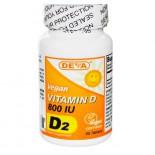 Vegan Vitamin D D2 800 IU (90 Tablets) - Deva