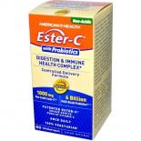 American Health, Ester-C avec probiotiques, Digestion & santé immunitaire complexe, 60 Tabs Veggie