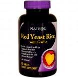 Natrol, levure de riz rouge avec de l'ail, 60 comprimés