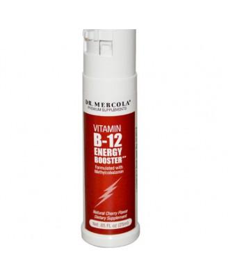 Dr. Mercola, Booster d'énergie de la vitamine B-12, saveur cerise naturelle, 85 fl oz (25 ml)