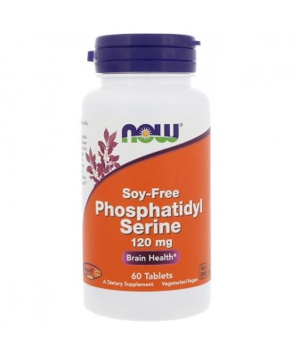 Phosphatidyl Serine- Soy-Free- 120 mg (60 tablets) - Now Foods