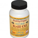 Healthy Origins, Krill Oil, Natural Vanilla Flavor, 1,000 mg, 60 Softgels
