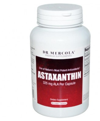 Dr. Mercola, Premium Supplements, Astaxanthin, 90 Licaps Capsules