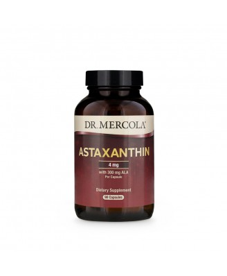 Dr. Mercola, Premium Supplements, Astaxanthin, 90 Licaps Capsules
