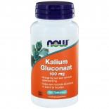 Kalium Gluconaat 100 mg (100 tabs) - NOW Foods