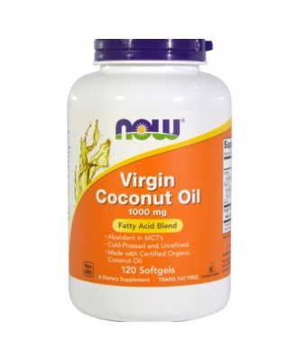 Now Foods, Virgin Coconut Oil, 1000 mg, 120 Softgels