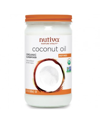 Nutiva Organic Coconut Oil Refined - 23 fl oz (680 ml)