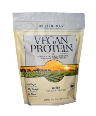 Dr. Mercola, Premium Supplements, Vegan Protein, Vanilla, 1 lb 5 oz (690 g)