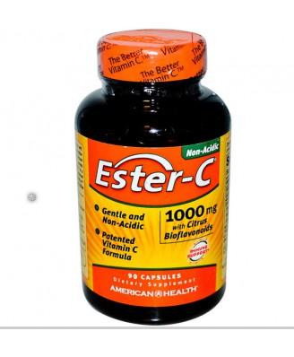 American Health, Ester-C avec bioflavonoïdes d'agrumes 1000 mg, 90 Capsules