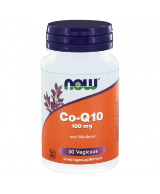 Co-Q10 100 mg met Meidoorn (30 vegicaps) - NOW Foods