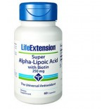 Super Alpha-Lipoic Acid met biotine 250 Mg - 60 Capsules - Life Extension