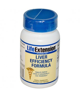 Liver Efficiency Formula (30 Veggie Capsules) - Life Extension