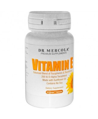 Dr. Mercola, Premium Supplements, Vitamin E, Tocopherols & Tocotrienols, 30 Licaps Capsules
