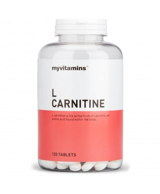 Myvitamins L Carnitine, 120 Tablets (120 Tablets) - Myvitamins