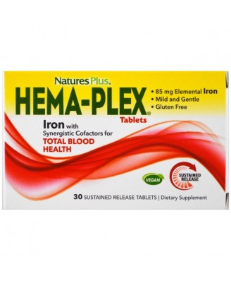 Hema-Plex (30 Sustained Release Tablets) - Nature's Plus