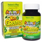 Kid Greenz, Natural Tropical Fruit Flavor (90 Animals) - Nature's Plus