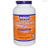 Calcium - Coral Calcium Plus (250 Vcaps) - Now Foods