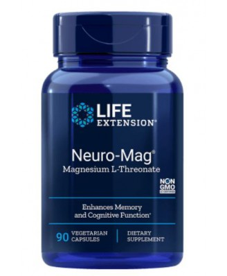 Neuro-Mag- Magnesium L-Threonate (90 Veggie Caps ) - Life Extension