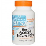 Doctor's Best, Best Acetyl-L-Carnitine , 500 mg, 120 Capsules