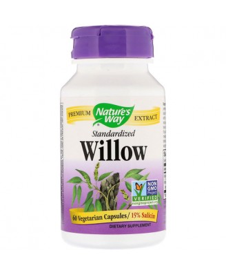 Nature's Way, White Willow, Standardized, 60 Capsules