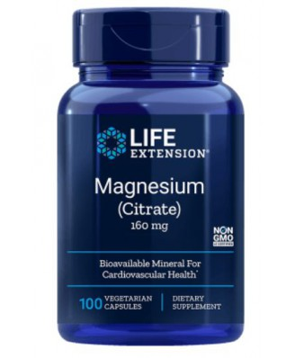 Magnesium (Citrate) 160 mg (100 Veggie Caps ) - Life Extension