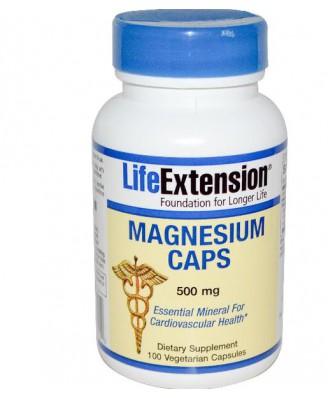 Life Extension, Magnesium Caps, 500 mg, 100 Veggie Caps