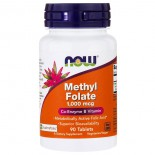 Methyl Folate- 1.000 mcg (90 tablets) - Now Foods