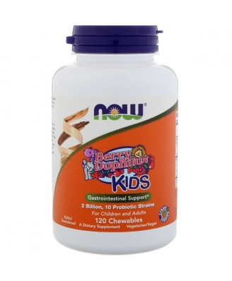 Now Foods, Berry Dophilus, Kids, 2 Billion, 120 Chewables