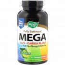 Nature's Way, Maximum Strength Mega 3/6/9, Omega Blend, Lime Flavor, 1350 mg, 180 Softgels