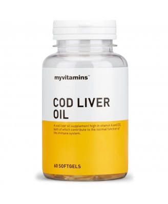 Cod Liver Oil (60 Softgels) - Myvitamins