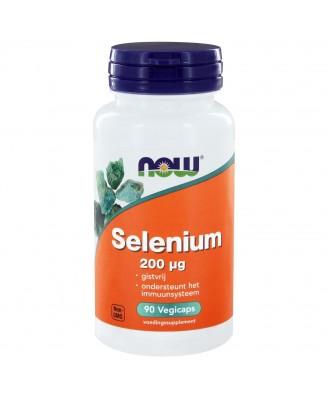 Now Foods, Selenium, essentieel mineraal, 200 mcg, 90 Vcaps