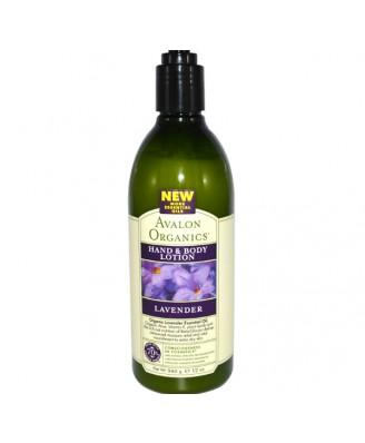 Avalon Organics, main & lotion pour le corps, lavande, 12 oz (340 g)