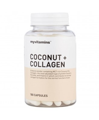 Coconut + Collagen (180 Capsules) - Myvitamins