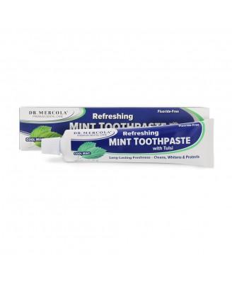 Dr. Mercola, le dentifrice menthe naturelle au Tulsi, sans fluor, 6 oz (170 g)