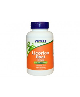 Licorice Root 450 mg (100 Capsules) - Now Foods