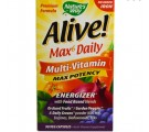Nature's Way, Alive ! Whole Food Energizer Multivitamines, Max puissance, No ajouté fer, 90 Vcaps