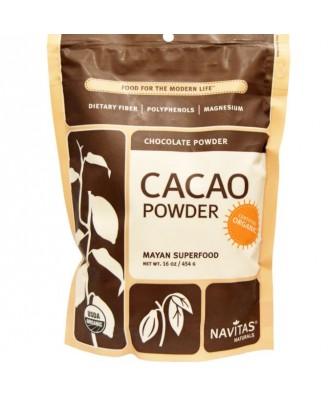 Les fèves de cacao, poudre, Raw & Organic (454 grammes) - Navitas Naturals