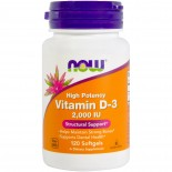 Vitamin D3 2000 IU (120 Softgels) - Now Foods