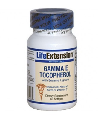 Gamma E Tocopherol with Sesame Lignans (60 Softgels) - Life Extension