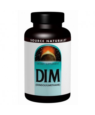 DIM- (Diindolylmethane)- 100 mg (60 tablets) - Source Naturals