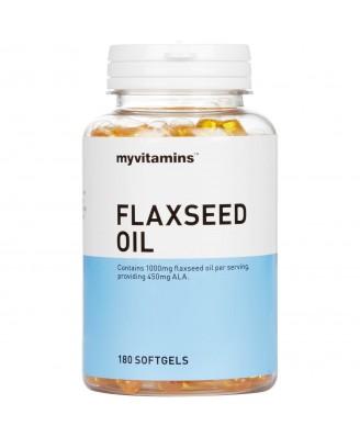Myvitamins Flaxseed Oil, 180 Softgels (180 Softgels) - Myvitamins