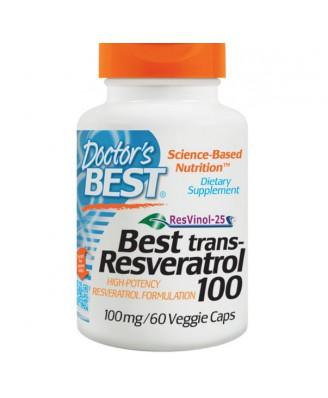 Trans-Resveratrol 100 - 100 mg (60 Veggie Caps) - Doctor's Best