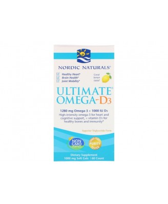 Ultimate Omega-D3 Lemon 1000 mg (60 Soft Gels) - Nordic Naturals