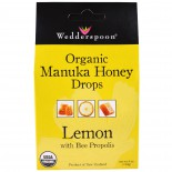 Wedderspoon Organic, Inc., Organic Manuka Honey Drops, Lemon With Bee Propolis, 4 oz (120 g)
