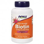 Biotin Extra Strength 10 mg (10.000 mcg) (120 Vegetarian Capsules) - Now Foods