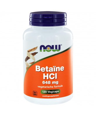 Betaïne HCl 648 mg (120 caps) - NOW Foods