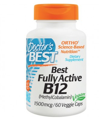 Best Fully Active B12, 1500 mcg (60 Veggie Caps) - Doctor's Best