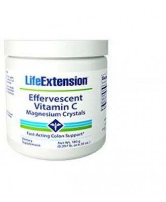 Vitamine C Effervescente En Poudre - Cristaux De Magnésium, 180 G - Life Extension